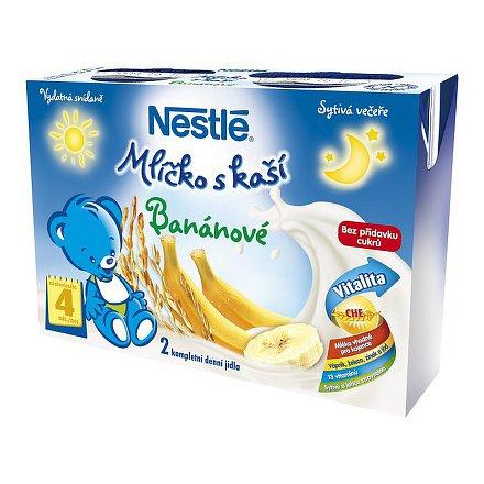 NESTLÉ Mlíčko s kaší banánové 2x200ml