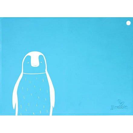 Silikonové prostírání Tučňák - modré
