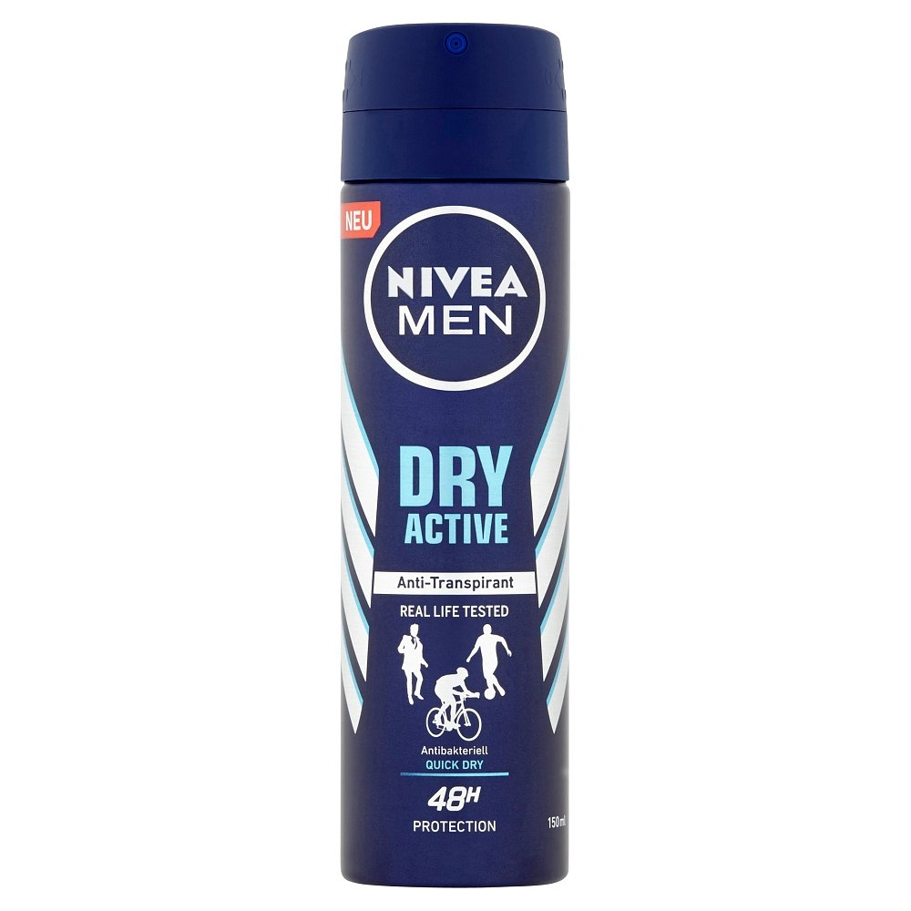 NIVEA  Men Dry Active Sprej antiperspirant 150 ml