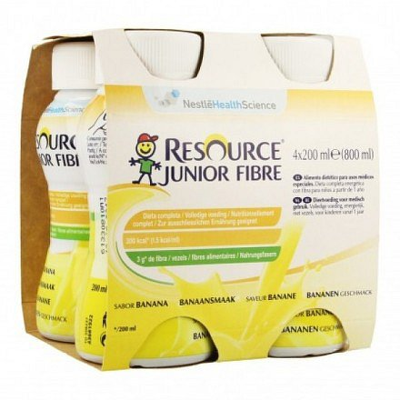 Resource Junior Fibre Banán por.sol.4x200ml