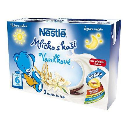 NESTLÉ Mlíčko s kaší vanilkové 2x200ml