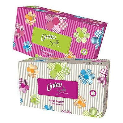 Linteo Satin papírové kapesníčky v krabičce 2-vrstvé 200 ks