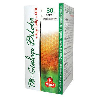 PM Ginkgo biloba plus Royal Jelly+Q 10 orální tobolky 30