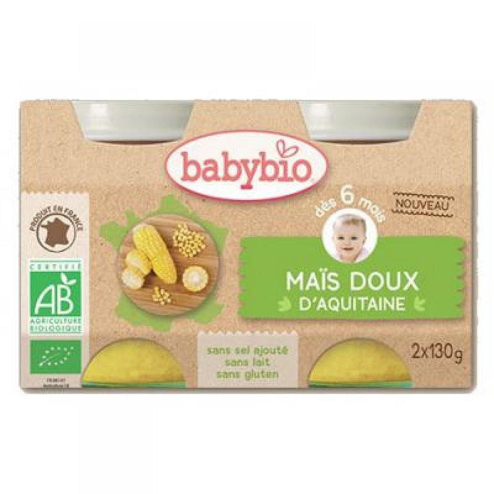 BABYBIO zeleninový příkrm sladká kukuřice 2x130 g