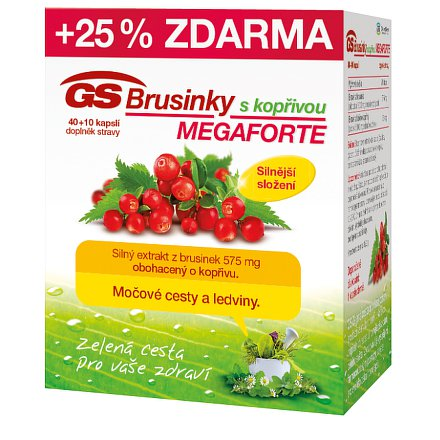 GS Brusinky Megaforte s kopřivou cps. 40+10