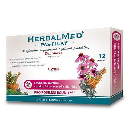 HerbalMed Dr.Weiss pastilky Echinacea-rakytník 12 ks