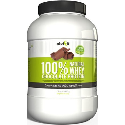 ALVIFIT 100% Natural WHEY Chocolate Protein 2000g
