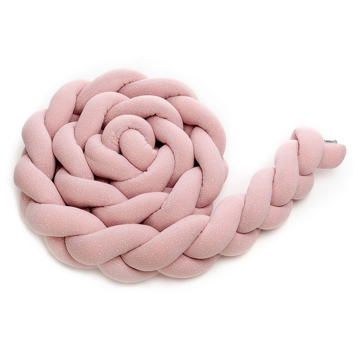 T-tomi Pletený mantinel 180 cm 1 ks pink dots