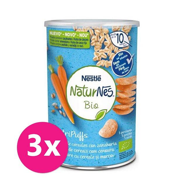 3x NESTLÉ NaturNes BIO křupky mrkvové 35 g