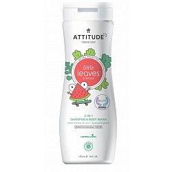 ATTITUDE Little leaves Dětské tělové mýdlo a šampon 2v1 meloun kokos 473 ml