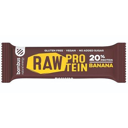 Bombus, tyčinka RAW Protein 20%, banana 5x50 g