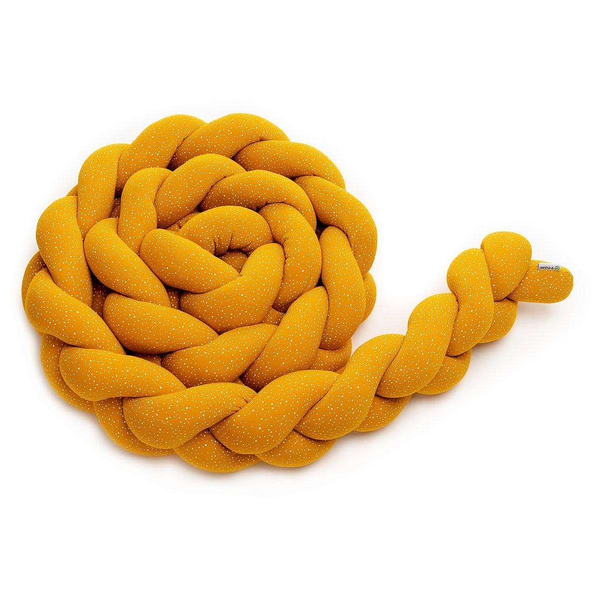 T-tomi Pletený mantinel 360 cm 1 ks mustard dots