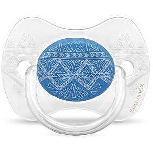 SUAVINEX PREMIUM COUTURE 2018 šidítko fyziologické silikon 0-4 m - Tmavě modré