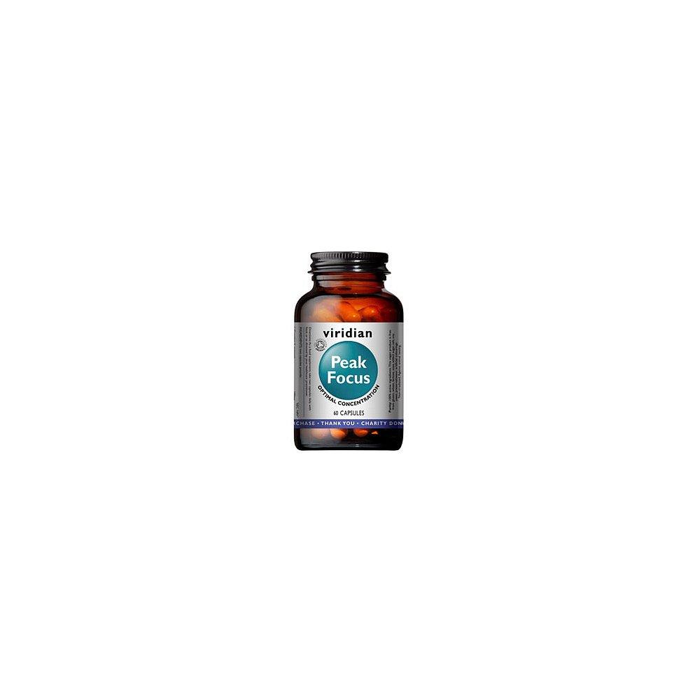 VIRIDIAN Nutrition Organic Peak Focus 60 kapslí