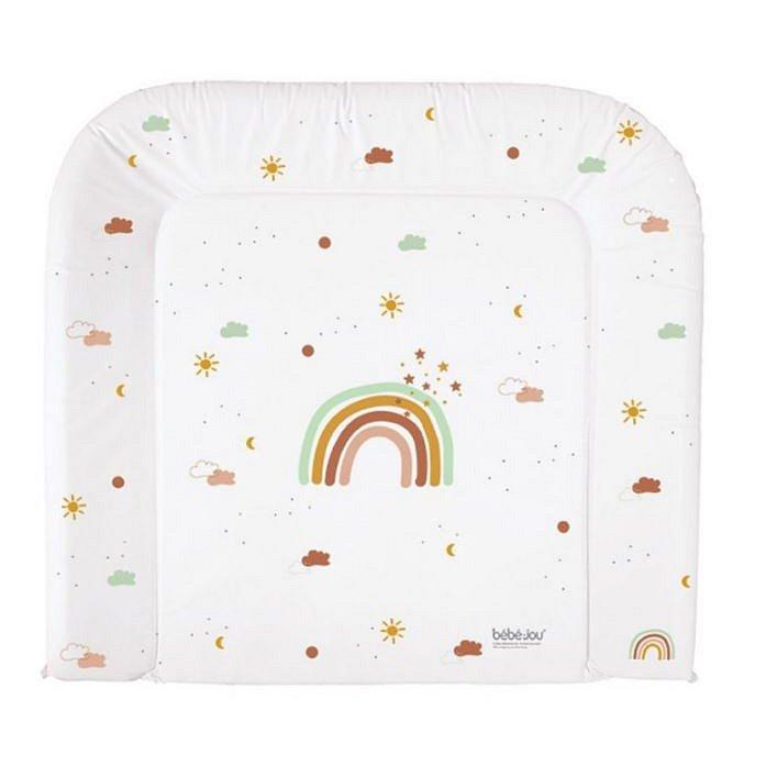 Bébé-Jou Přebalovací podložka třístranná Rainbow Sky 72x77cm