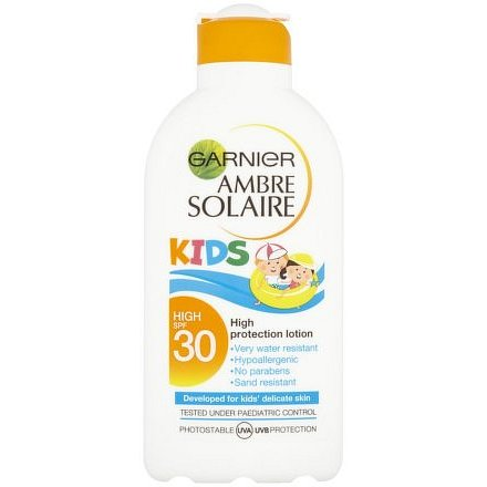 Garnier Ambre Solaire Kids ochranné voděodolné mléko pro děti OF 30 200ml