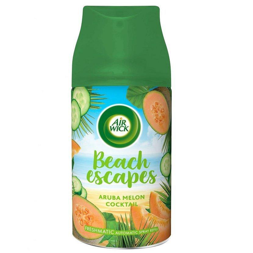 Air Wick Freshmatic náhradní náplň do osvěžovače vzduchu - Aruba melounový koktejl  250 ml