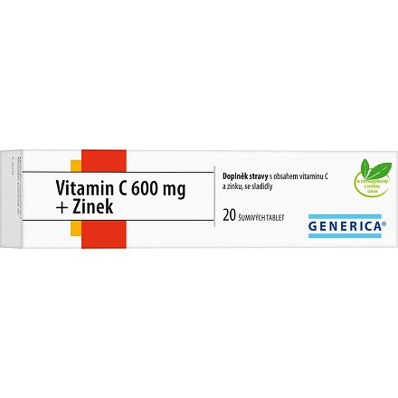 Generica Vitamin C 600 mg + Zinek 20tbl.