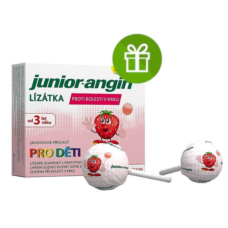 Junior-angin Lízátka pro děti 8ks + Dárek