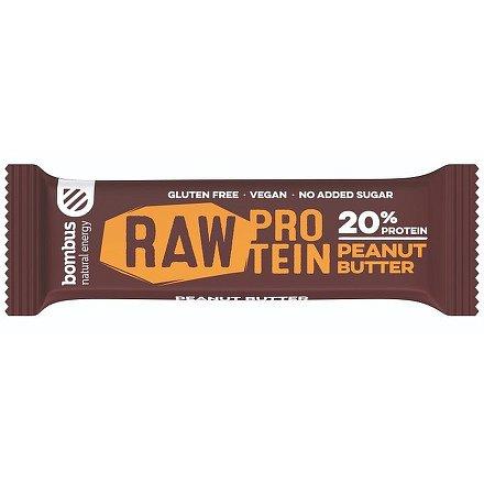 Bombus, tyčinka RAW protein 20%, peanut butter 5x50 g