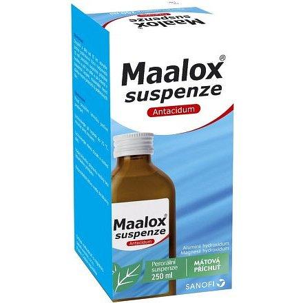 Maalox suspenze 35mg/ml+40mg/ml Mátová příchuť 250ml