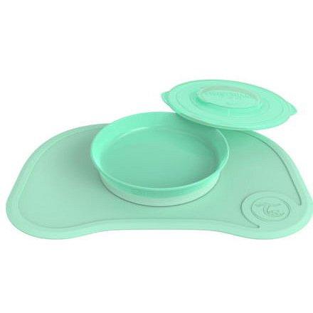 Protiskluzová Podložka Click Mat + talíř 6+m Pastelově zelená