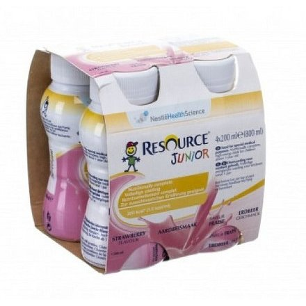 Resource Junior Fibre Jahoda por.sol.4x200ml