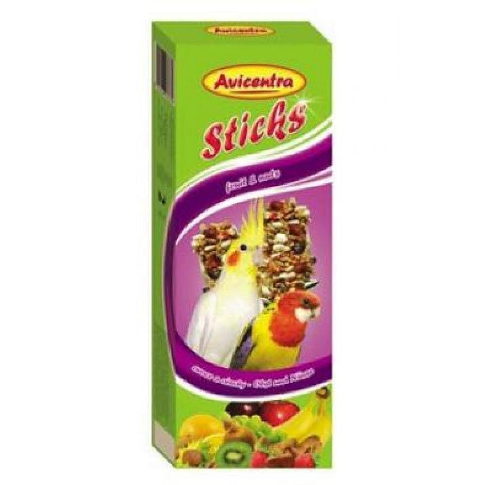 Avicentra tyčinky pro malé papoušky ovoce+ořech 2ks, 110g