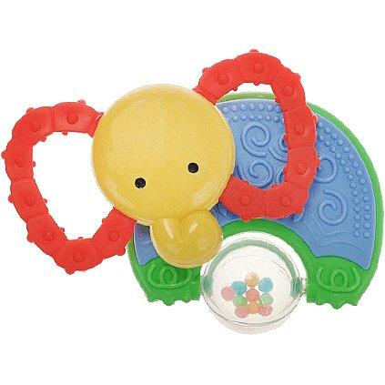 BABY'S HAPPINESS Kousátko s chrastítkem – slon