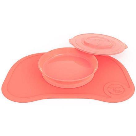 Protiskluzová Podložka Click Mat + talíř 6+m Pastelově broskvová