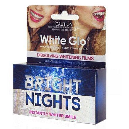 White Glo Bright nights rozpouštěcí zubní pásky 6ks