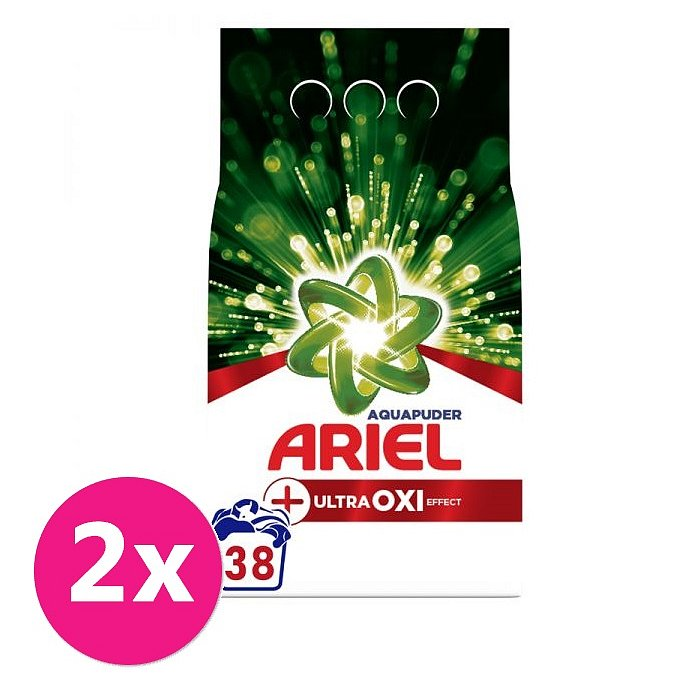 2x ARIEL AquaPuder OXI Extra hygiene prací prášek 38 pd