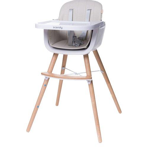 4baby Jídelní židlička Scandy beige