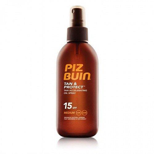 Piz Buin Tan Accelerating Oil Spray SPF 15 opalovací olej urychlující opalování SPF 15 150 ml + dárek PIZ BUIN - letní šátek