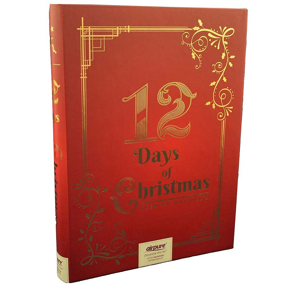 AIRPURE dárková sada Vánoční kniha Wax Melt 12 ks