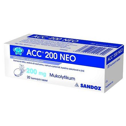 Acc 200 NEO perorální tablety šumivé 20 x 200 mg
