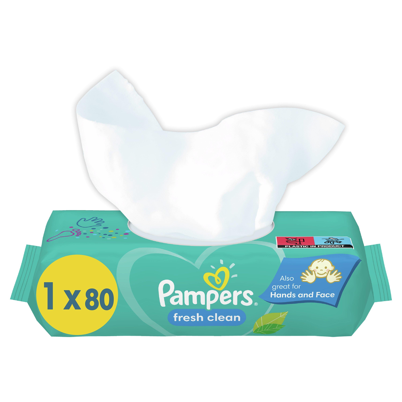 Pampers Fresh Clean Baby Dětské Čisticí Ubrousky 15x80ks