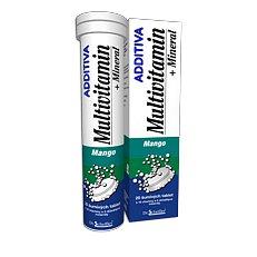 Additiva multivitamín +minerál tablety šumivé 20 mango