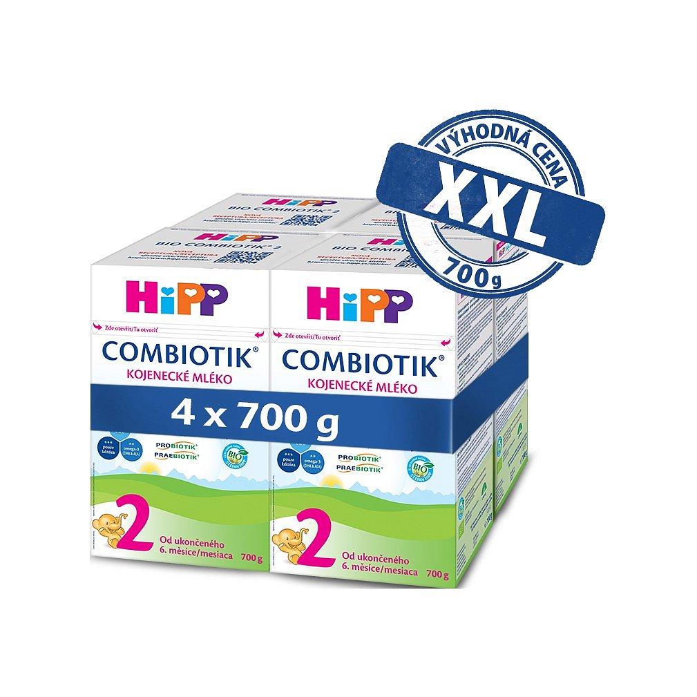 4x HiPP 2 BIO Combiotik - pokračovací mléčná kojenecká výživa, 700 g