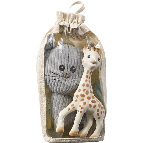 VULLI Set plyšová hračka kocour Lazare + žirafa Sophie