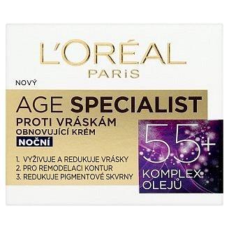 L'oréal Dex Age Specialist 55+ noční krém 50 ml