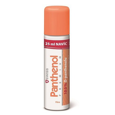 Panthenol 10% Swiss PREMIUM pěna 125+25ml zdarma