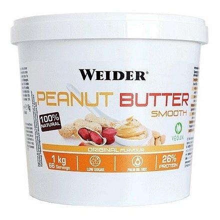 Weider Peanut Butter Smooth, 100% arašídové máslo,1000 g