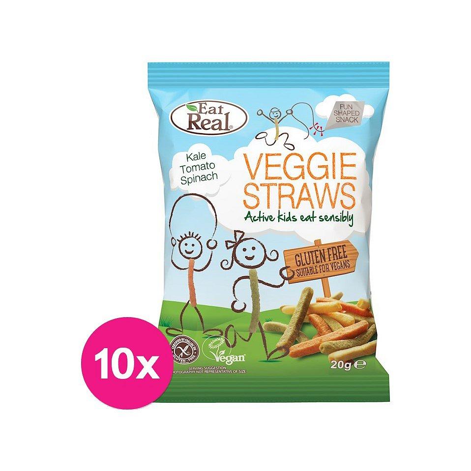 10 x EAT REAL Zeleninové chipsy pro děti 20 g