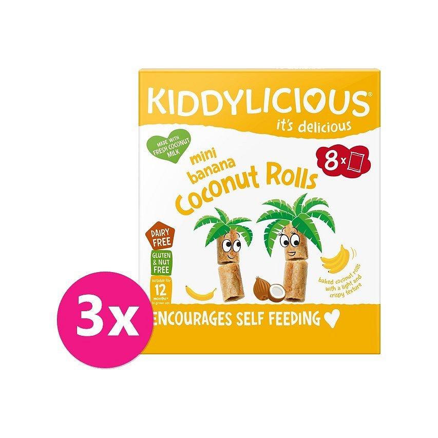 3 x KIDDYLICIOUS Mini banánové trubičky