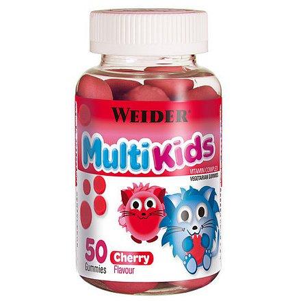 WEIDER Multi Kids, 50 bonbónů, třešeň