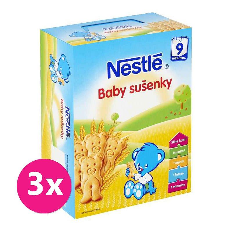 3x NESTLÉ Baby sušenky (180 g)