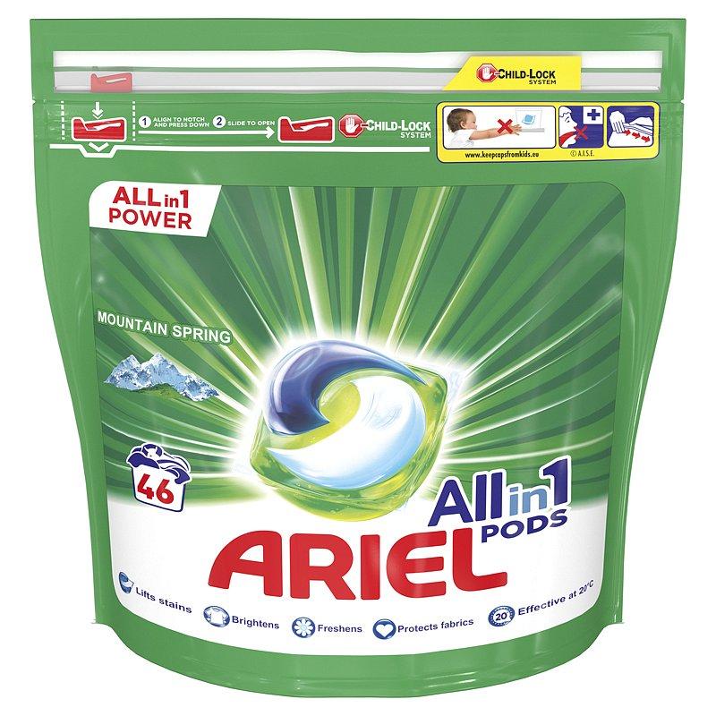ARIEL All-In-1 PODs Kapsle na praní Mountain Spring, 46 praní