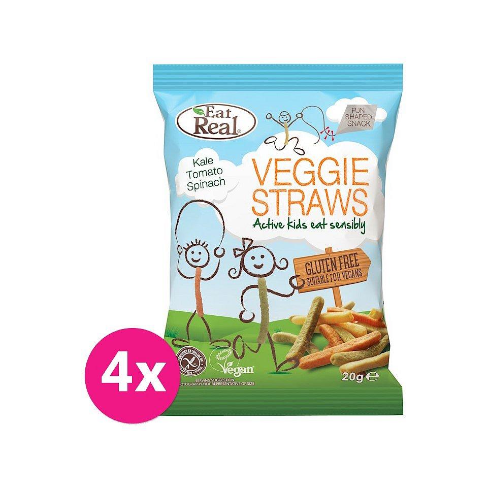 4 x EAT REAL Zeleninové chipsy pro děti 20 g