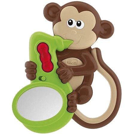 CHICCO Chrastítko Opička / Zvuky a světlo